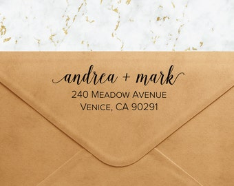 Custom Address Stamp - Looping Script Self Inking Return Address Stamp