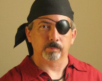 Medieval Renaissance Pirate Buccaneer Privateer Corsair Leather Eyepatch