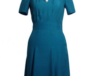 TYRIAN BERLIN FLOWY: 1940's inspired dress/ mandarin collar
