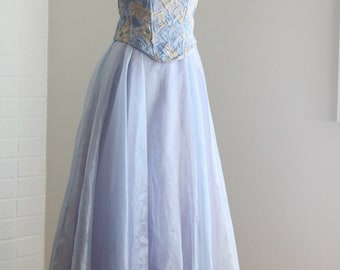 The Sugar Plum Fairy Dress | Full Skirt Corset Bodice | Vintage Prom Party Dress