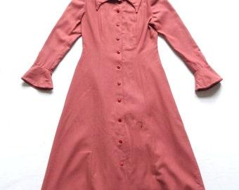 Vintage 70's Wool Dress UK Size 12