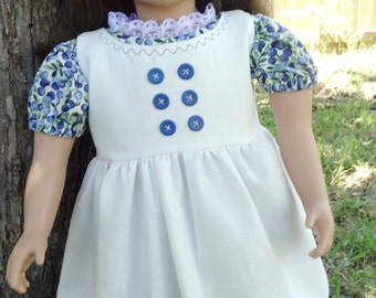 "23"" Doll Clothes ""Summer Blueberries"" Dress and Pinafore Fits My Twinn"