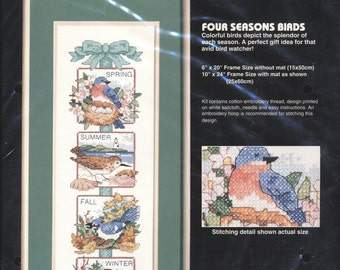 Cross Stitch Kit Four Seasons Birds - Unopened and Complete