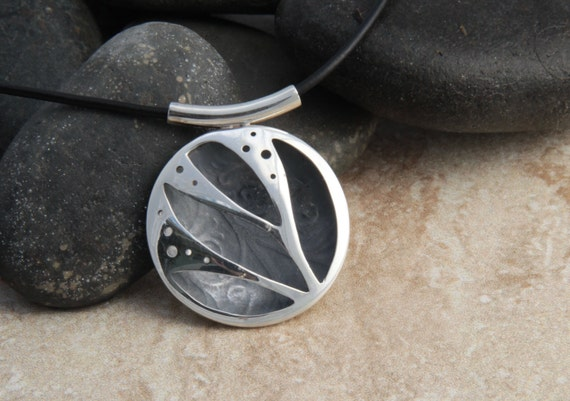 Sterling Silver Abstract Pillow Pendant
