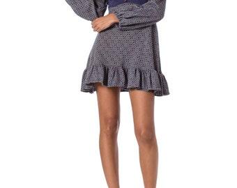 1960s Knitted Tile Print Mini Dress SIZE: S, 2