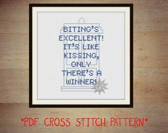 Doctor Who Idris/Tardis quote cross stitch PDF pattern