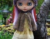 Blythe Doll Knitted Alpaca Cardigan - Heathered Brown