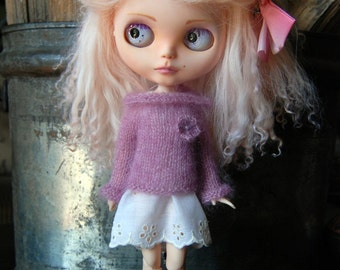 Blythe Doll Knitted Mohair and Silk Roll Neck Pullover