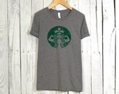 Starbucks Strong Tshirt. Starbucks Shirt. Workout Shirt. Fitness Apparel. Unisex Tee.