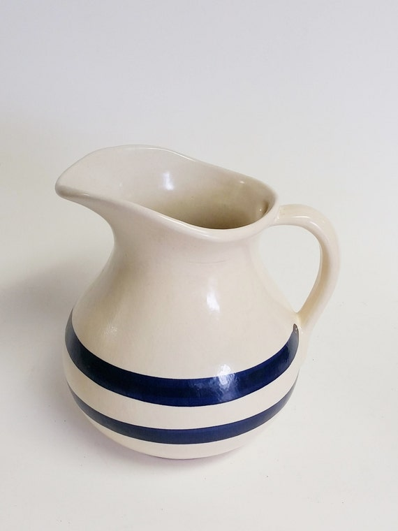 "Large Vintage Pitcher, Robinson Ransbottom Stoneware Pitcher 9"" Serving Pitcher Collectable"