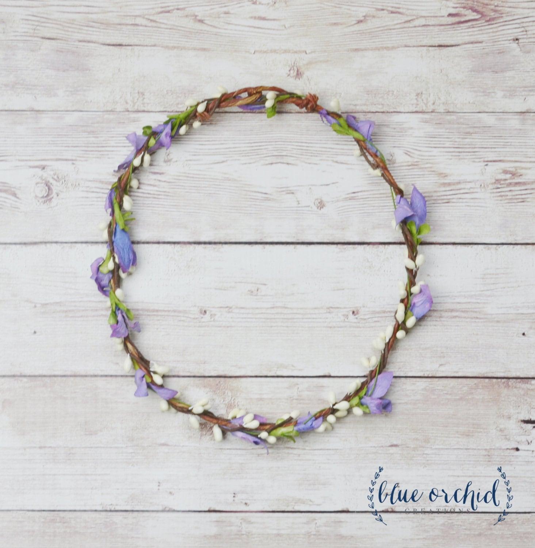 Flower Crown Purple: Wildflower Crown Purple Flower Crown Thin Flower Crown
