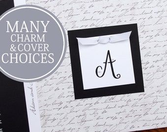First Anniversary Gift | Anniversary Journal | Paper Anniversary Gift | Personalized | Script Cover with Last Name Initial Charm