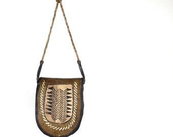 Leather Purse - Vintage Africa Tribal Bag