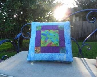 Flip Flop Batik Box Pillow