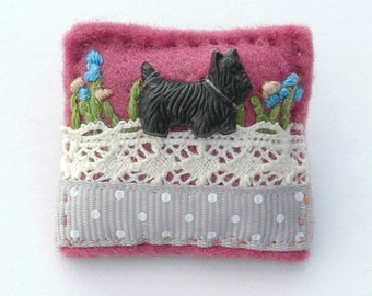 Scottie dog brooch - Scottish Terrier - Scottie dog - dog brooch - black dog - dog jewellery - dog gifts