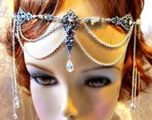 Renaissance Wedding Headdress, Bridal Circlet, Renaissance Headpiece, Treasury List
