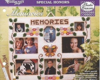 Memories Plastic Canvas Pattern - The Needlecraft Shop - Wall Hanging, Picture Frame, Home Decor, Photo Frame, Collage