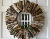 Driftwood Wreath, Rustic Home Decor, Beach Home Decor, Vacation Home, Christmas wreath, Christmas front door, front door wreath, door deco