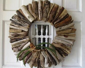Driftwood Wreath, Rustic Home Decor, Beach Home Decor, Vacation Home, Christmas wreath, Christmas front door, front door wreath, door deco