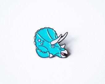 Triceratops dinosaur enamel pin. designosaur pin badge. soft enamel dinosaur pin. land before time lapel pin. Jurassic park brooch. button.