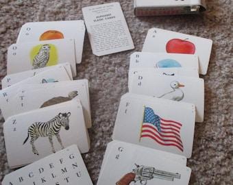 Vintage Whitman Alphabet Flash Cards
