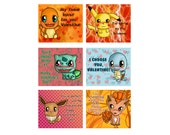Pokemon Valentine's Day Valentine Cards - Set of 24 or 36 (6 Designs)
