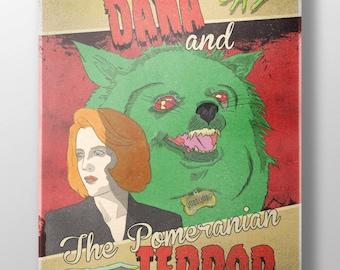 Dana & The Pomeranian Terror Fine Art Print