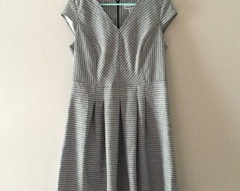 Grey Striped Vintage Dress