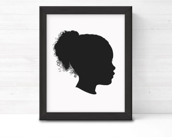 CUSTOM Silhouette, PRINTABLE Childrens Silhouette, Childrens Portrait, Child Silhouette Art, Wall Art, Family Portrait, Classic Silhouettes