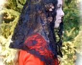 Black Lace Mantilla for Adults, PO#ZB02