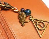 Harry Potter Key Chain, Harry Potter Purse Charm, Charmed Key Ring, Harry Potter Gifts, Book Club Gifts,  PC200HP