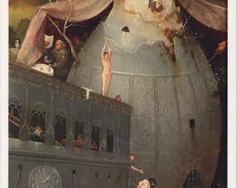 "Hieronymus Bosch Fine Art Poster Print, ""Temptation of St. Anthony,"" c. 1502"