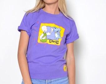 Vintage 90's DOUG Crop Top Sz S