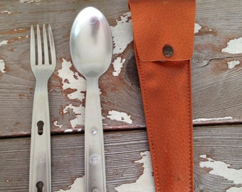 BOY SCOUT UTENSILS-Camping Fork and Spoon,Fork and Spoon Set,Fork,Spoon,Fork and Spoon Set,Boy Scouts,Camping,Picnic Fork and Spoon Set,Dorm
