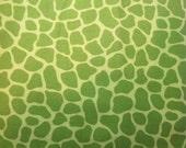 Giraffe dots print-green giraffe animal print cotton fabric