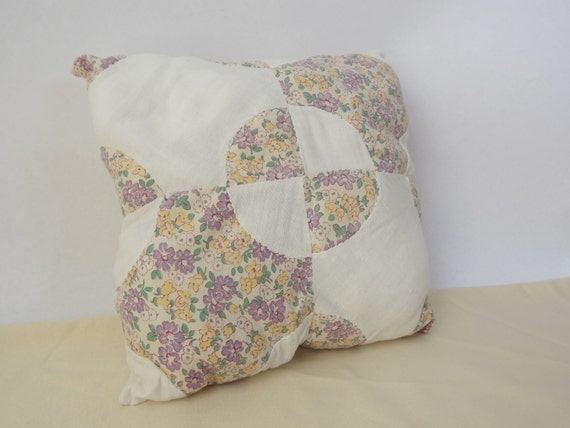 Items similar to throw pillow vintage quilted shabby chic bedding on Etsy