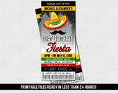 FIESTA TICKET INVITATION Birthday Party - Any Age - (print your own) Printable Files - Graduation, Shower, Cinco de Mayo - Any Event