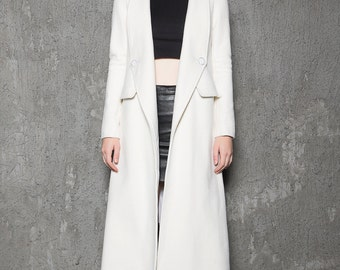 White wool coat | Etsy