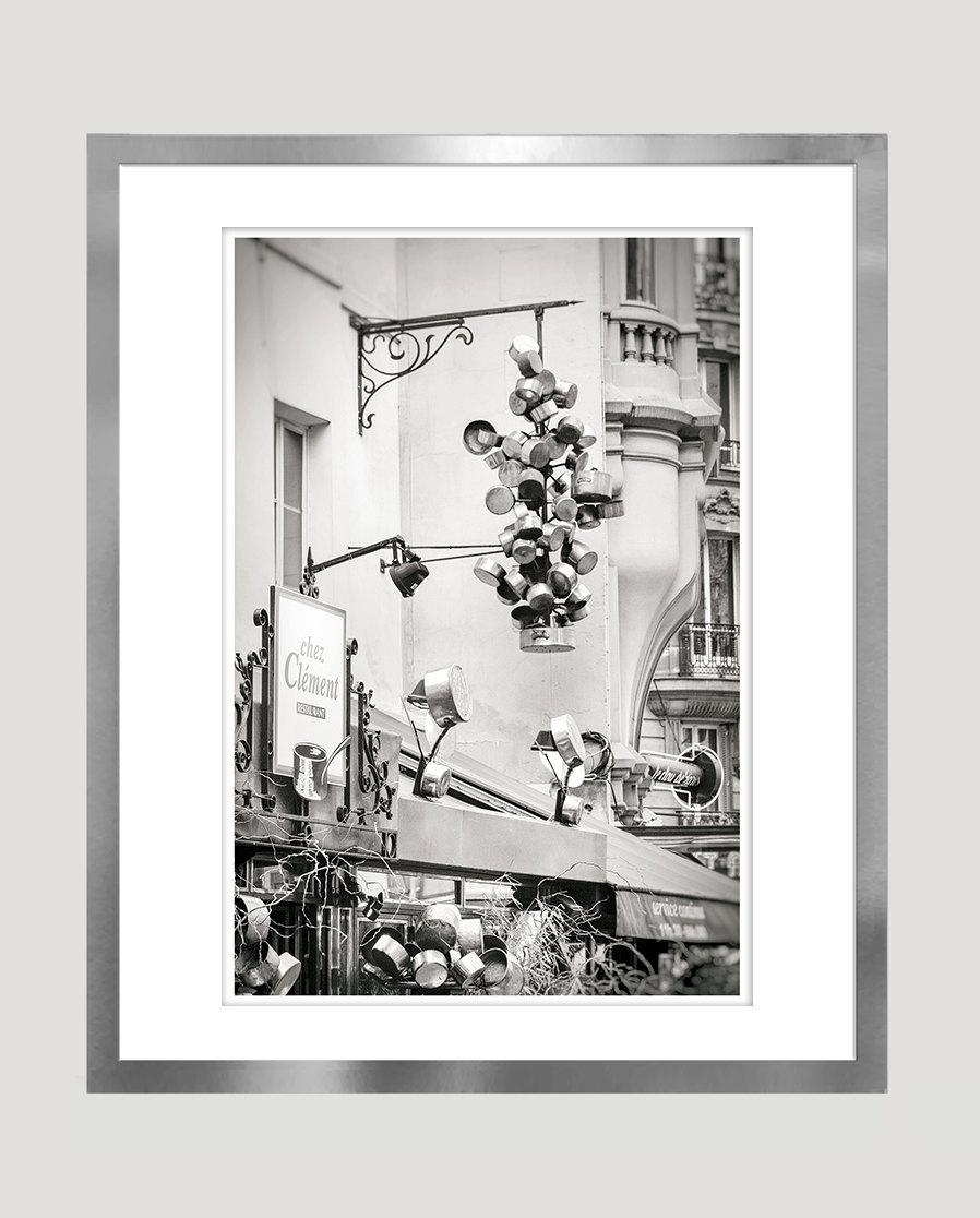 Art Prints For Kitchen Wall: Large Kitchen Wall Art Print Paris Black And White