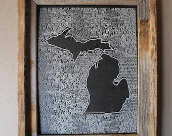 Brews of Michigan Word Map (Black)