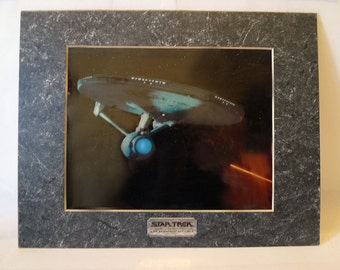 1990s Vintage STAR TREK Chromart Print of the U.S.S. Enterprise NCC-1701 A