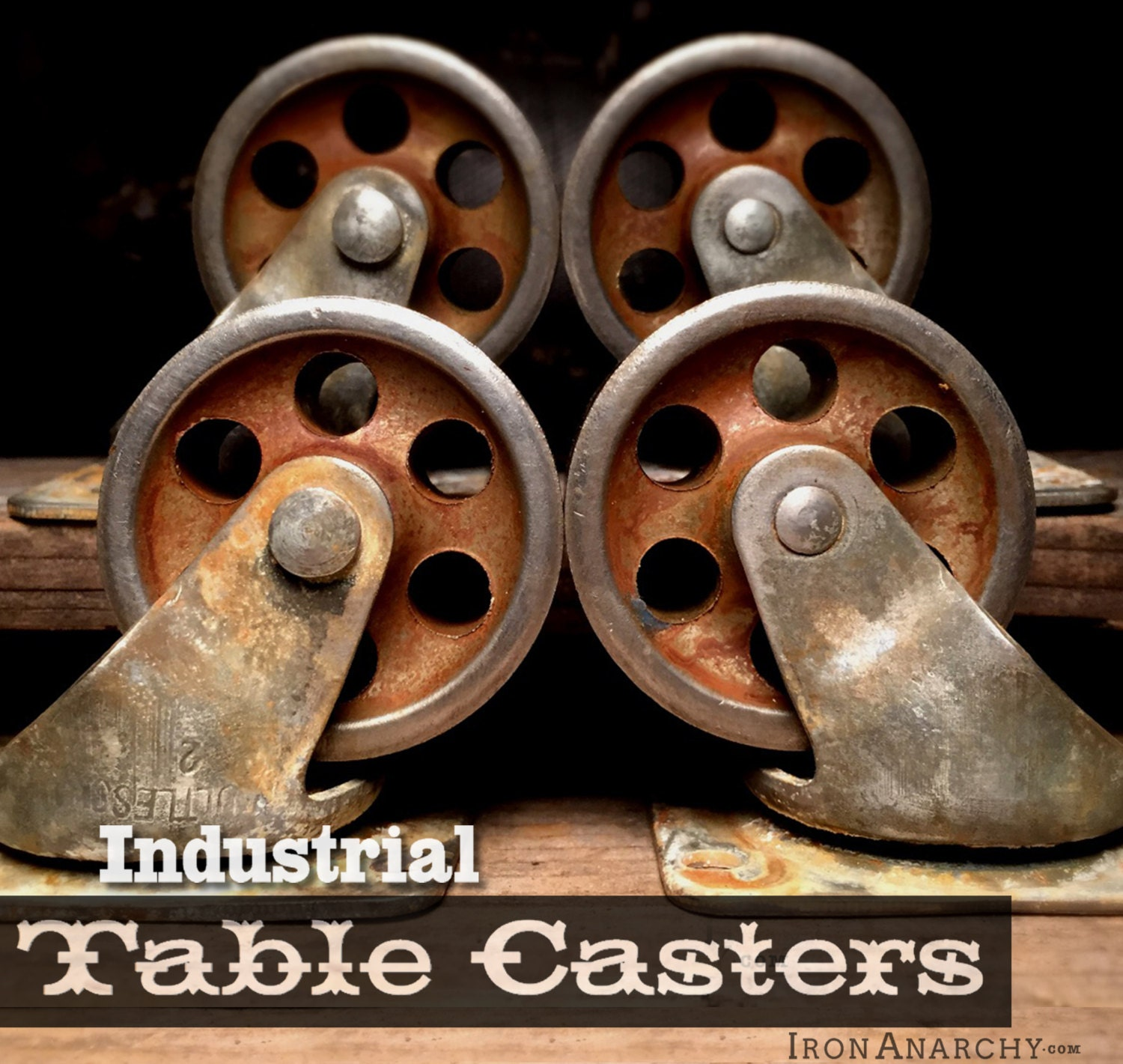 Industrial Casters For Coffee Table: Vintage Casters Industrial Casters Coffee Table By IronAnarchy