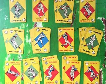 Vintage Baseball Card Game 1957 by Ed-U-Cards
