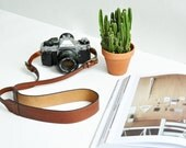 THE CLASSIC BRANDY  || Leather Camera Straps, Brown Leather Camera Strap, High Quality Leather Camera Strap,  Neck Strap, Camera Straps