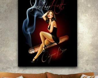 Smokin Hot Canvas Gallery Wrapped Wall Decor