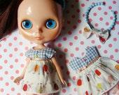 Dress, Shorts & Tiara for Blythe doll.