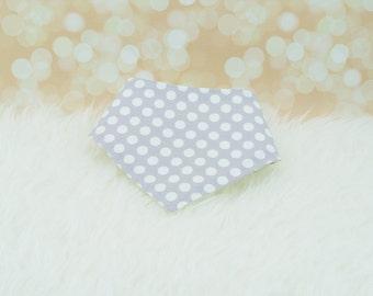 Baby Bandana Drool Bib (Stone Dots) ||| bibdana, baby shower gift, drool bib, dribble bib, drool bandana, special needs bib, bibdanna