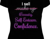 3D+ Fiber Lash Shirt - I Sell Confidence Shirt  - Ladies Lash Shirt - Make Up Shirt - Younique Motto Inspired Shirt - Inspired by Younique