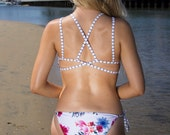 Floral High Neck Reversible Cheeky Bikini