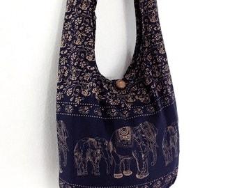 Women bag Handbags Cotton bag Elephant bag Hippie Hobo Boho bag Shoulder bag Sling bag Messenger bag Tote bag Crossbody bag Purse Navy blue